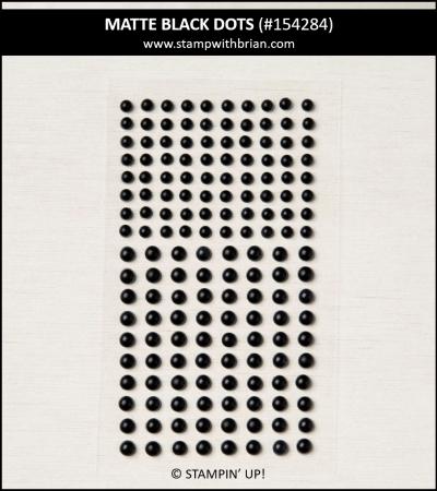 Matte Black Dots, Stampin Up!, 154284