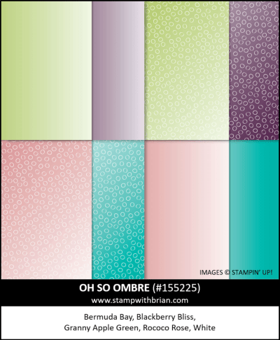 Oh So Ombre Designer Series Paper, Stampin Up!, 155225