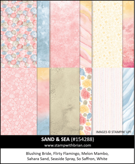Sand and Sea Designer Series Paper, Stampin Up!, 154288