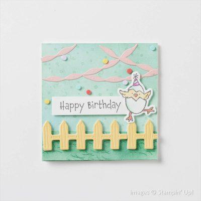 Hey Birthday Chick Bundle, Stampin Up! samples, 158631