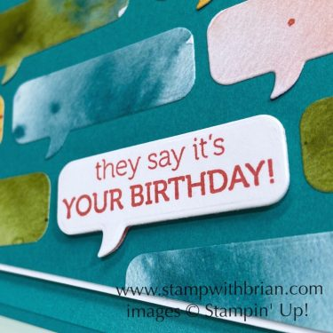 Itty Bitty Birthdays, Stampin Up!, Brian King, birthday card