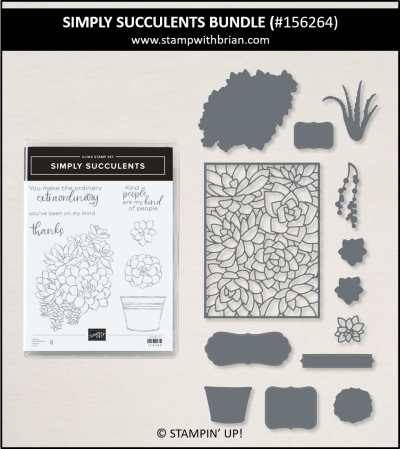 Simply Succulents Bundle, Stampin Up!, 156264