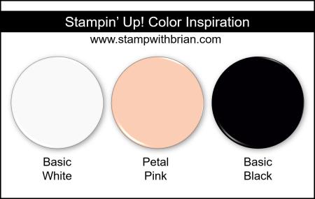Stampin Up! Color Inspiration - Basic White, Petal Pink, Basic Black