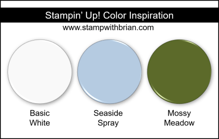 Stampin Up! Color Inspiration - Basic White, Seaside Spray, Mossy Meadow