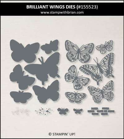 Brilliant Wings Dies, Stampin Up! 155523