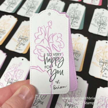Color & Contour, Tailor Made Tags Dies, Stampin Up!, Brian King