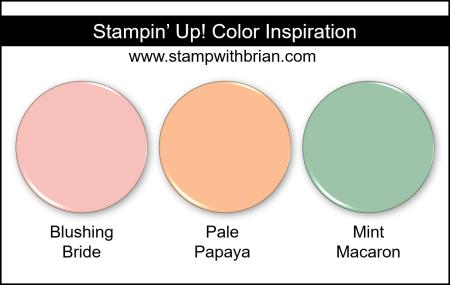 Stampin Up! Color Inspiration - Blushing Bride, Pale Papaya, Mint Macaron