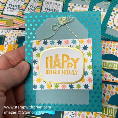 You Are Amazing Project Kit, Stampin Up!, card 3