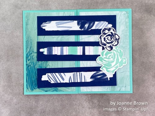 by Joanne Brown, Stampin Up!, swap card 1