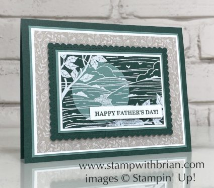 Better Places, Best Year, Stampin Up!, Brian King, Father's Day card
