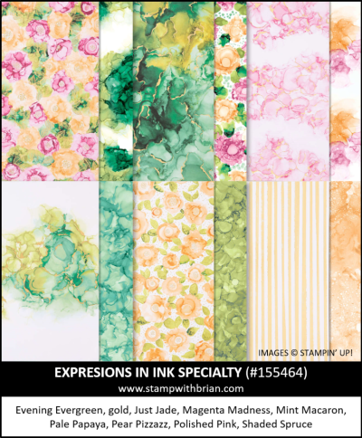 Expressions in Ink Specialty Designer Series Paper, Stampin Up!, 155464