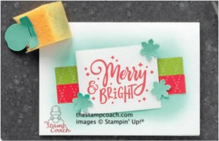 Merry & Bright Notecard by Linda Krueger, Stampin Up!