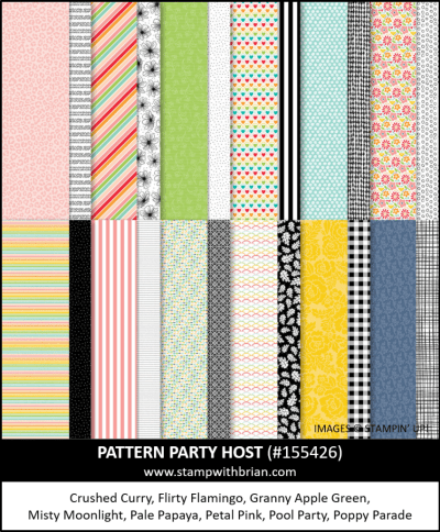 Pattern Party Host Designer Series Paper, Stampin Up!, 155426