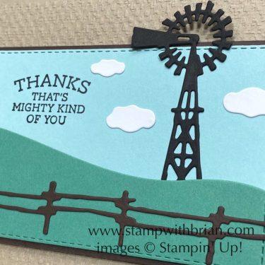 Ride the Range Bundle, Stampin Up!, Brian King, thank you card