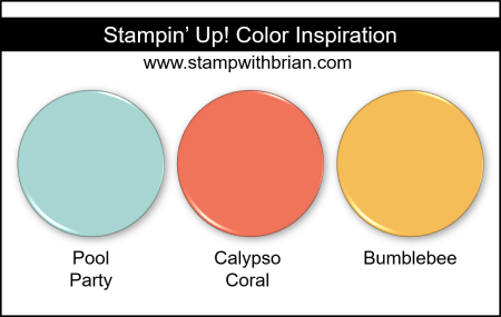 Stampin Up! Color Inspiration - Pool Party, Calypso Coral, Bumblebee
