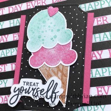 Sweet Ice Cream, Pattern Party, Stampin Up!, Brian King