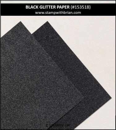 Black Glitter Paper, Stampin Up!, 153518