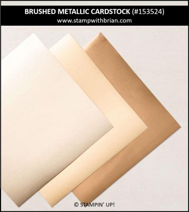 Brushed Metallic Cardstock, Stampin Up! 153524