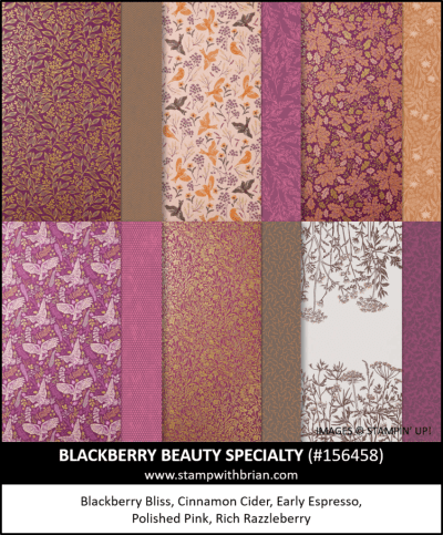 Blackberry Beauty Specialty Designer Series Paper, Stampin Up! 156458