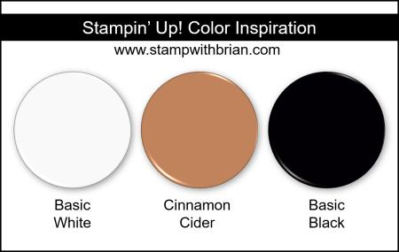 Stampin Up! Color Inspiration - Basic White, Cinnamon Cider, Basic Black