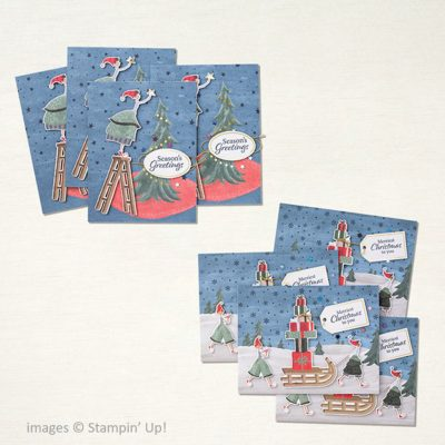 Christmas Whimsy Card Kit, Stampin Up!, 158166, finished cards