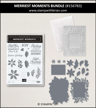 Merriest Moments Bundle, Stampin Up! 156783