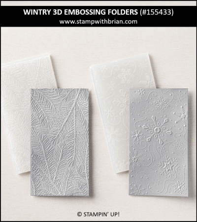 WIntry 3D Embossing Folders, Stampin Up! 155433