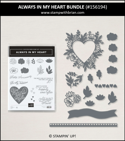 Always in my Heart Bundle, Stampin Up! 156194