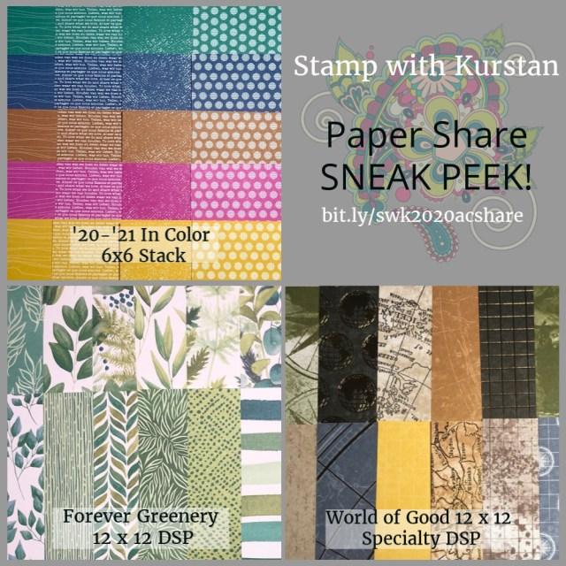 Stampin Up Paper Share Sneak Peek
