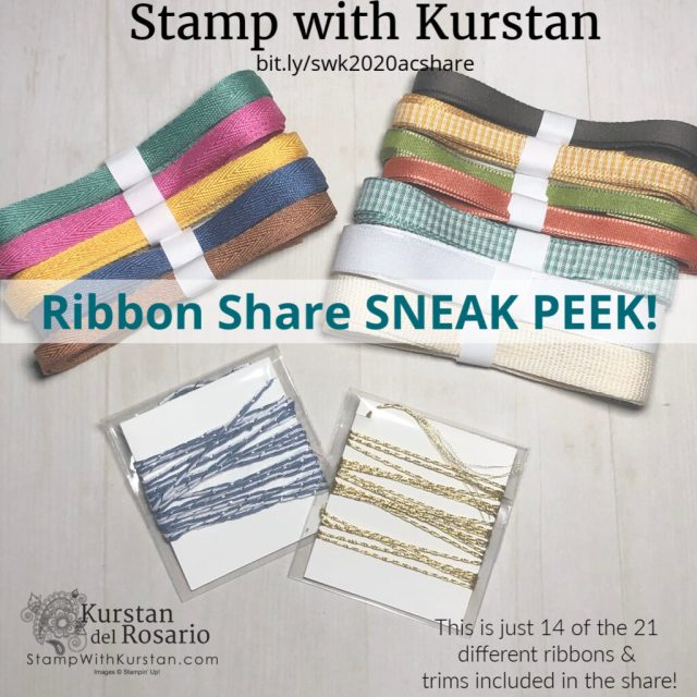 Stampin Up Ribbon Share Sneak Peek