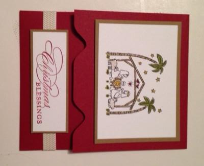 Nativity Gift Card Front