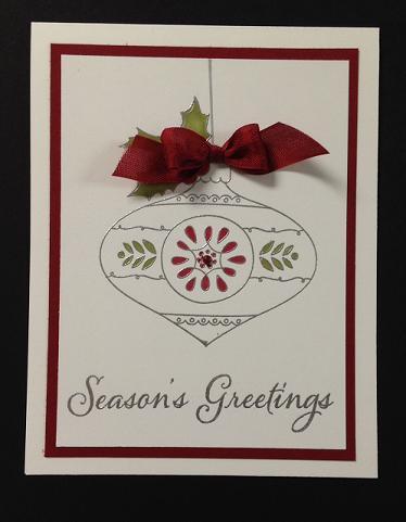 Season's Greeting Ornament