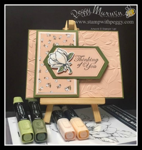 Good Morning Magnolia Stamp Set, Magnolia Lane Designer Paper, Magnolia Memory Dies, Stitched Nested Labels Dies, Layered Leaves 3D Embossing Folder, Stamp with Peggy