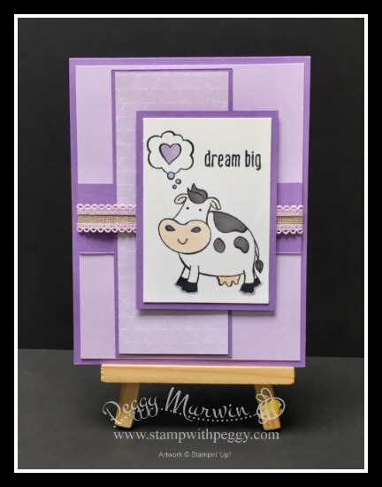 Over the Moon Stamp Set, 2019-2021 In Color Designer Paper, Purple Posy, Stamp with Peggy