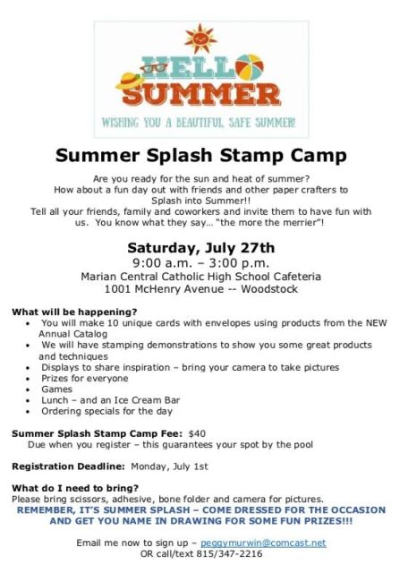 Summer Splash, Stamp Camp, Stamp with Peggy