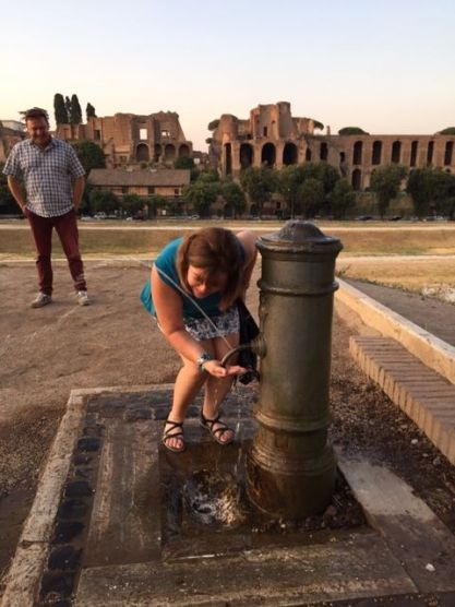 Rome Italy, Water fountain