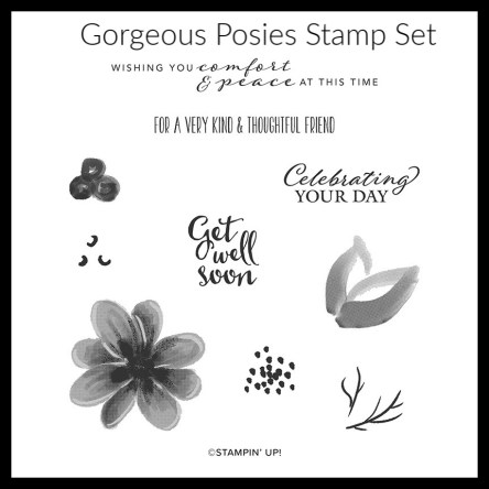 Gorgeous Posies Stamp Set, Gorgeous Posies Project Kit, Stamp with Peggy