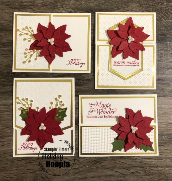 Poinsettia Petals Card Set