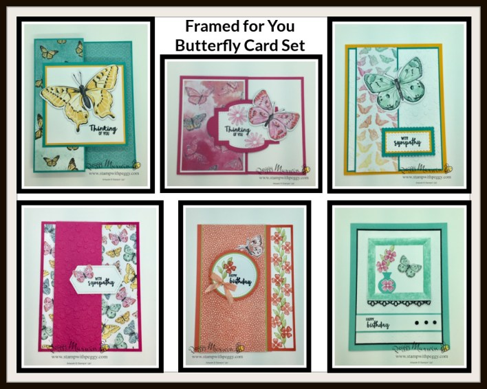 Framed for You Butterfly Cards