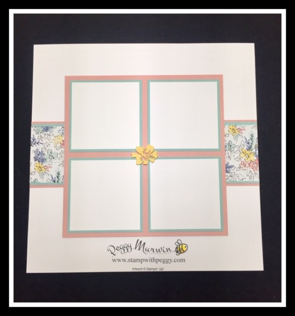 Hand-Stamped Designer Paper, May Scrapbook, Stamp with Peggy