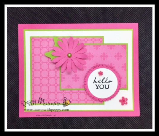 Shaded Summer, Polished PInk, Medium Daisy Punch, Loose Flower Flourishes, Stamp with Peggy