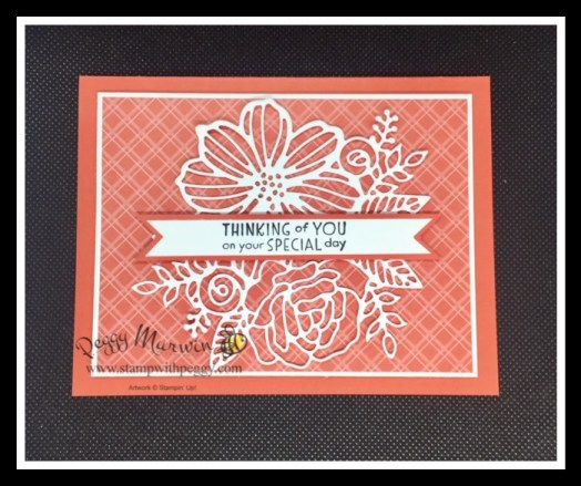 """Inspired Thoughts Stamp Set, Artistic Dies, Subtles 6"""" x 6"""" Designer Paper, Stamp with Peggy"""