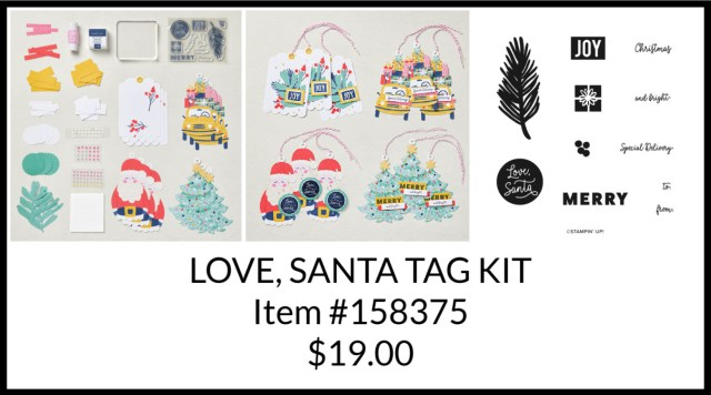 Clearance Rack, Love Santa Tag Kit, Stamp with Peggy
