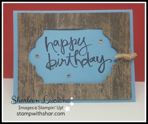 Masculine Gift Card Holder Stampin' Up