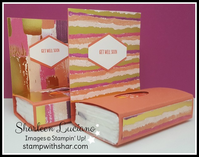 Tissue Box Painted With Love Stampin' Up!