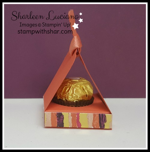 Ferrero Rocher Mini Box Painted With Love Stampin' Up!