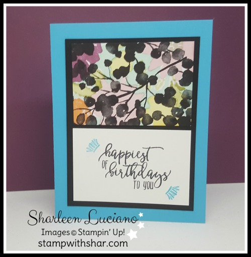 Petal Passion Birthday Card Stamp With Shar
