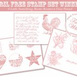 Free Stamp Set Winners!