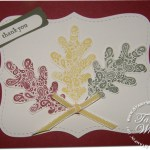 Paisley Prints leaf card for Fall