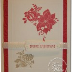 Pines and Pointsettias Card